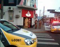 Agência Santander de União da Vitória é assaltada