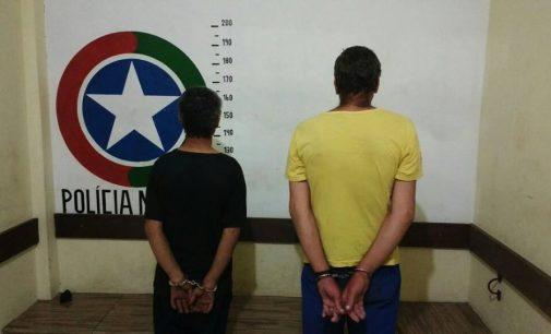 PM de Matos Costa prende dois homens por furto de TV