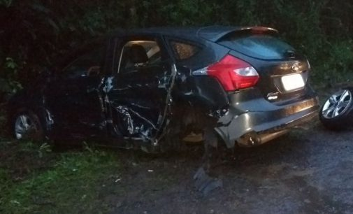 PRF registra acidente no Trevo do Trabuco na BR 153