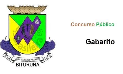 Gabarito do Concurso Público de Bituruna já está disponível