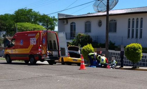 PM registra acidente entre carro e moto