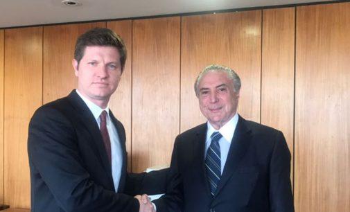 Presidente Temer recebe prefeito de União da Vitória