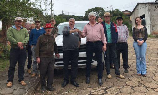 Agricultura de Porto Vitória recebe novo veículo