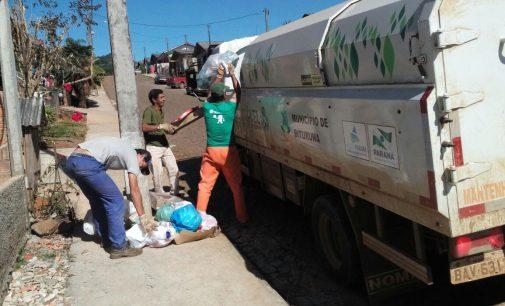 Taxa de coleta de lixo começa a ser cobrada em Bituruna