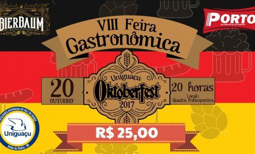 Uniguaçu convida a todos para a VIII Feira Gastronômica