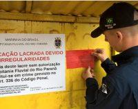 Capitania Fluvial do Rio Paraná lacra 11 embarcações