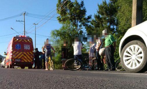 Ciclista é atropelado na BR 280 em Porto União