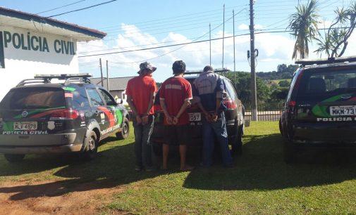 Três homens são presos por roubo em Irineópolis
