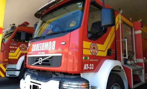 Princípio de incêndio em empresa de Porto União