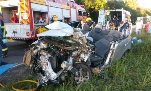 Grave acidente na BR 280 em Irineópolis