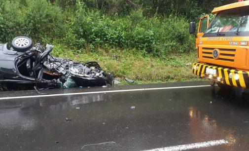 Acidente deixa dois feridos na BR 153, na Colônia Mendes