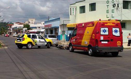 Acidente deixa motociclista ferido em União da Vitória