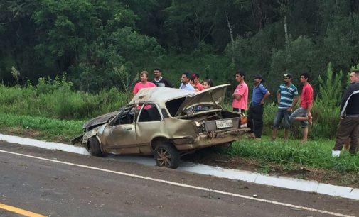 Acidente na BR 280 em Irineópolis deixa dois mortos
