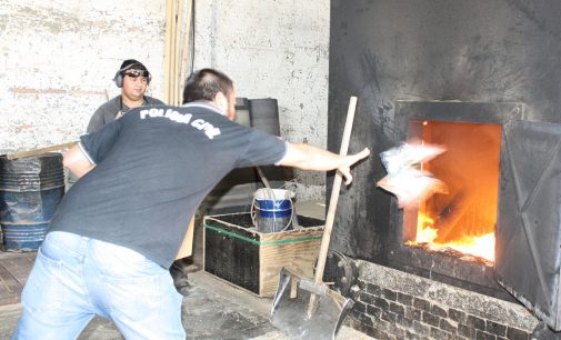 Polícia Civil de Porto União faz incineração de drogas
