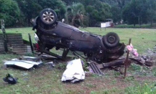 Ultrapassagem forçada causa acidente na BR 153