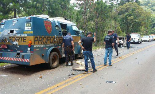 Assalto a carro forte na PR 170 em Bituruna e Pinhão
