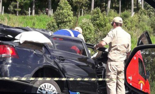 Acidente na BR 153 deixa um morto e dois feridos