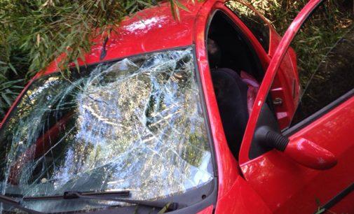 Veículo capota na localidade de Santa Maria em Porto União