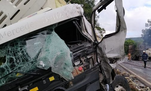 Grave acidente na BR 153 deixa dois feridos