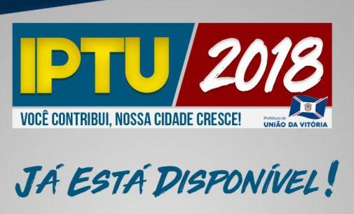 IPTU 2018 já está à disposição em União da Vitória