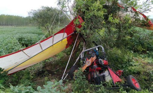 Piloto faz pouso forçado de ultraleve em Porto União
