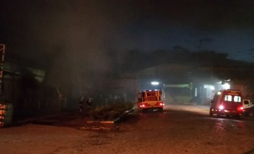 Princípio de incêndio na empresa Somapar