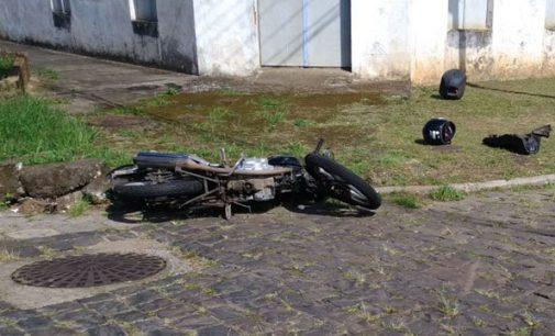 Acidente de trânsito em Porto União envolve carro e moto