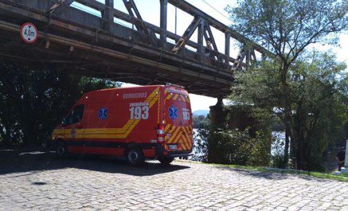 Homem fica ferido as margens do Rio Iguaçu em Porto União
