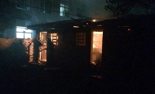 Incêndio atinge kitnet no centro de União da Vitória