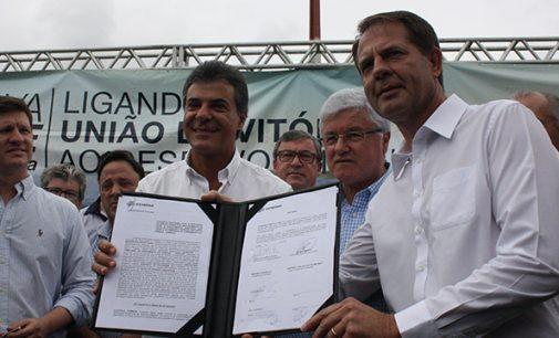 Porto União, assina contrato com a Sanepar