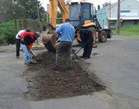 Setor de Obras de União da Vitória inicia operação tapa buraco