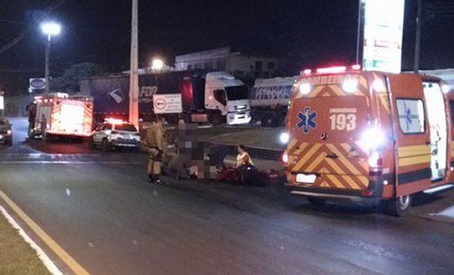 Óleo na pista causa acidente em Porto União