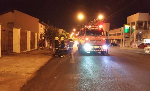 Bombeiros registram princípio de incêndio em veículo