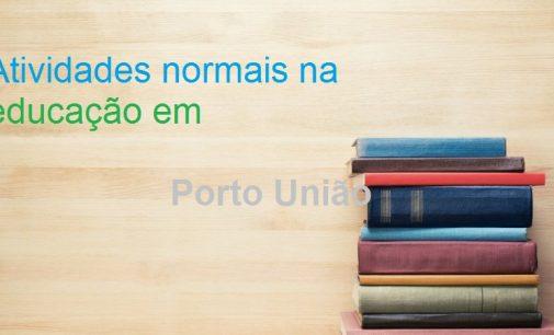 Escolas Municipais de Porto União mantém atividades de aula