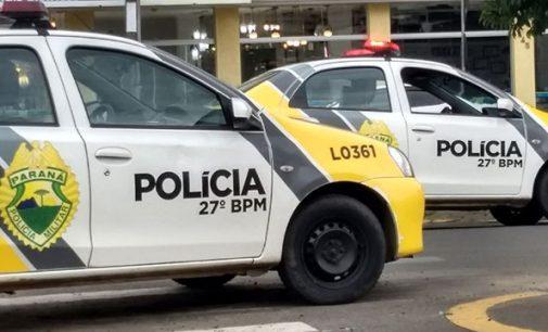 PM de União da Vitória atende caso de furto e ameaça