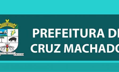 Prefeitura de Cruz Machado divulga nota sobre funcionamento de setores