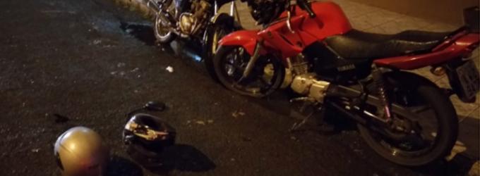 Ocorre acidente de trânsito envolvendo duas motos em UVA