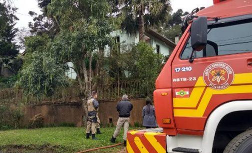 Equipes do PR e SC registram princípio de incêndio no Rocio