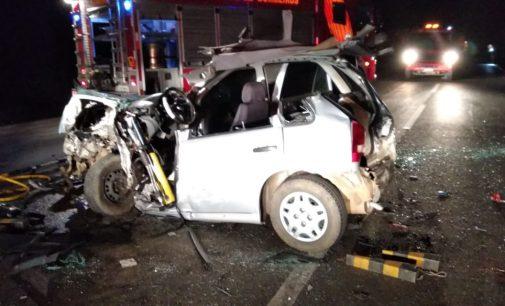 Acidente na BR 153 deixa quatro pessoas feridas