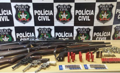 DIC faz Operação e apreende armas em PU e Matos Costa