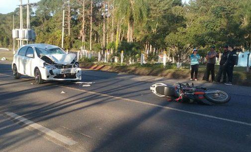 PRF registra grave acidente na BR 280 em Irineópolis