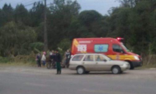 Ciclista é atropelado em Porto União
