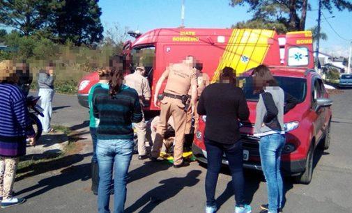 Motociclista fica ferida em acidente de trânsito