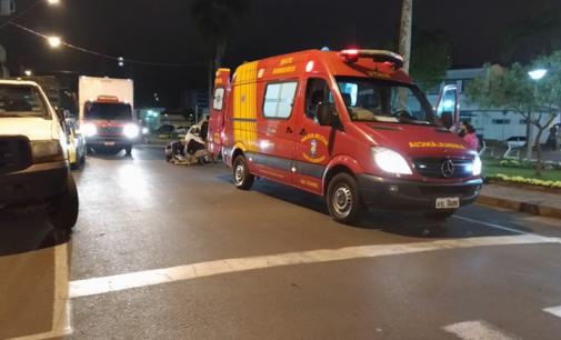 Acidente de trânsito em Porto União deixa ciclista ferida
