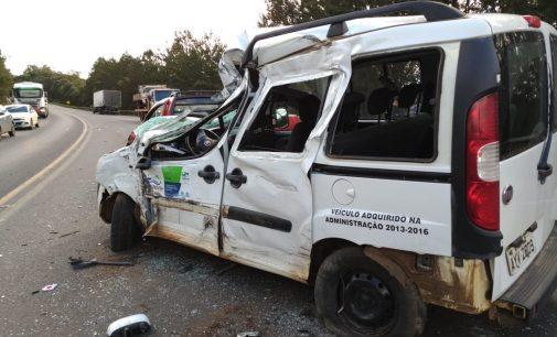 Acidente na BR 153 envolve quatro veículos na Serra do Leão