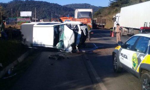 Acidente deixa dois mortos na BR 153 em General Carneiro