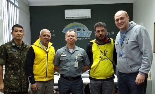 Coronel do Ministério da Defesa visita a Uniuv