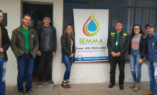 Estagiários da Uniguaçu visitam Secretaria de Agricultura e Meio Ambiente