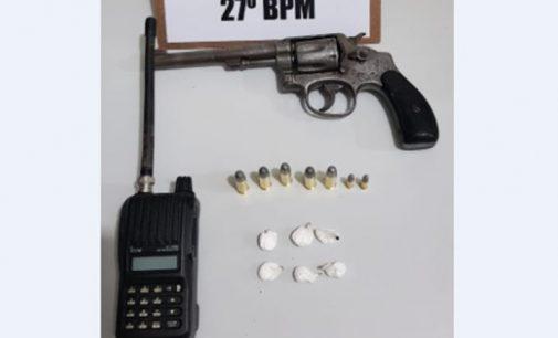 PM de Bituruna apreende arma de fogo, rádio HT e drogas