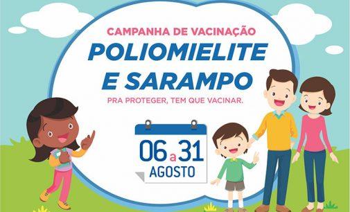 Vacinação contra a Poliomielite e Sarampo se encerra nesta sexta-feira